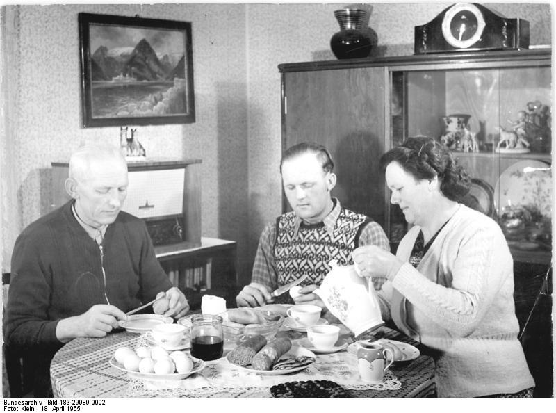 Bauernfamilie, Abendessen