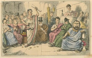 Comic_History_of_Rome_Table_10_Cicero_denouncing_Cataline-300x189