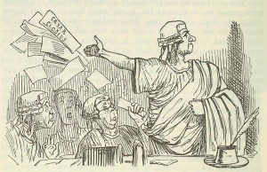Comic_History_of_Rome_p_296_Cicero_throws_up_his_Brief_like_a_Gentleman-300x194
